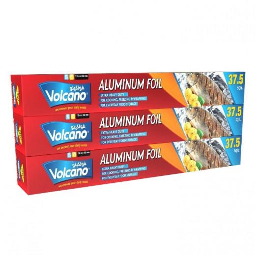 فولكينو - أوعية ألمونيوم لحفظ الطعام 37.5 قدم مربع (2+1 مجانا)