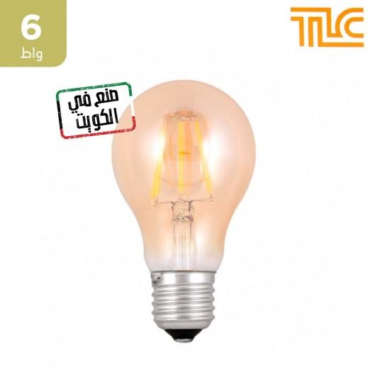 تي إل سي – مصباح إضاءة LED فلامنت ذهبي E27 A60 بقوة 6 واط – 1 حبة