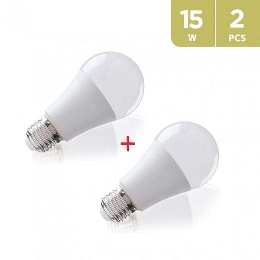 جلوبال– لمبة 15واط LED - اصفر (2حبه)