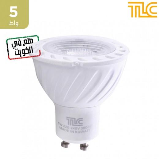 تي إل سي – مصباح إضاءة LED GU10 بقوة 5 واط – اصفر - 1 حبة