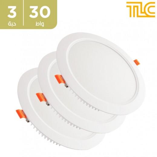 تي إل سي – 30 واط كشاف LED ديب بانل 20×20 سم – أبيض – 3 حبة