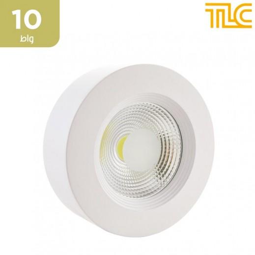 تي إل سي – 10 واط كشاف LED داون لايت خارجي 12×12 سم – أبيض – 1 حبة