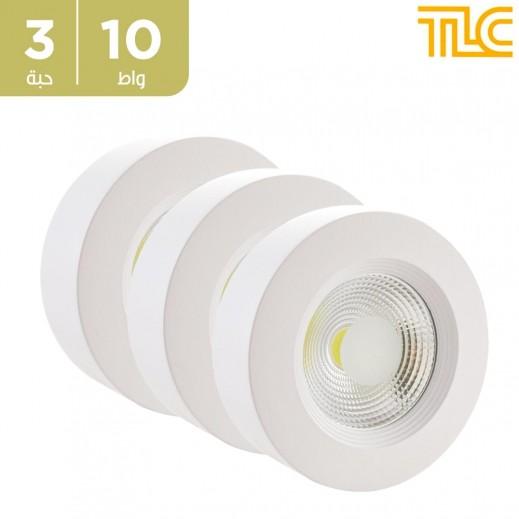 تي إل سي – 10 واط كشاف LED داون لايت خارجي 12×12 سم – أبيض – 3 حبة