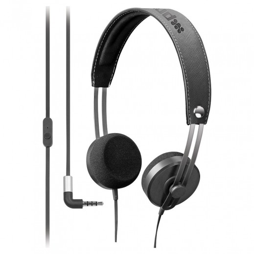 Promate Tone Vintage Styled In-Line Stereo Headphones Black