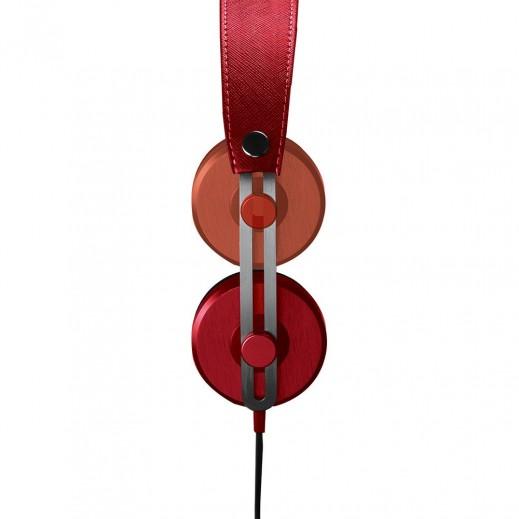 بروميت سماعات ستيريو للرأس تصميم قديم مع ميكروفون مدمج في السلك احمر