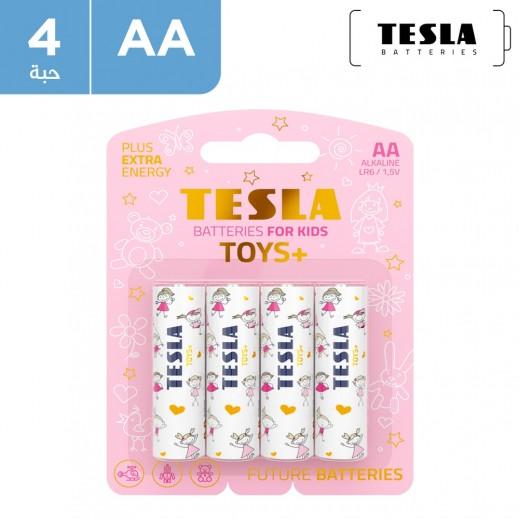 تسلا - بطاريات TOYS+ Boy AA الكالين  - 4 حبات