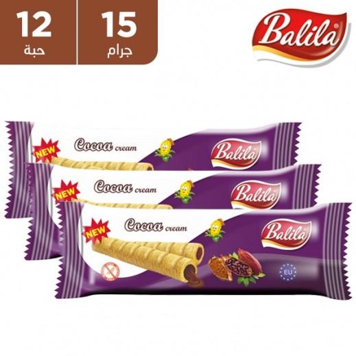 باليلا - أصابع الذرة المنتفخة محشوة بكريمة الكاكاو 12× 15 جم