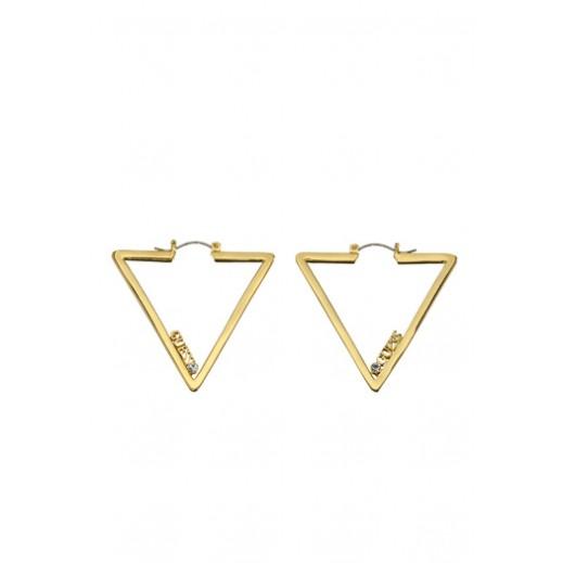 Guess Earrings Iconically - Gold - يتم التوصيل بواسطة التوصيل بعد 3 أيام عمل بواسطة بيضون
