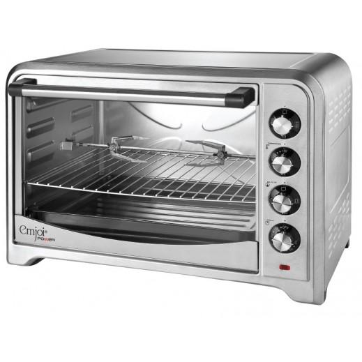 امجوي باور فرن تحميص كهربائي (شوي بالدوران + تدوير الهواء الساخن + صينية خبز) 70 لتر
