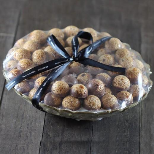 سمسمية بالشوكولاتة - 100 قطعة - يتم التوصيل بواسطة SugarestQ8 Chocolate