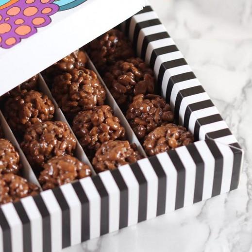 كرات شوكولاتة مقرمشة - 48 حبة - يتم التوصيل بواسطة SugarestQ8 Chocolate