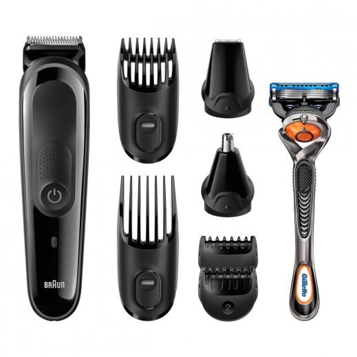 براون – طقم تشذيب شعر الرأس والوجه 8 في 1 متعدد الاستخدامات موديل MGK3060