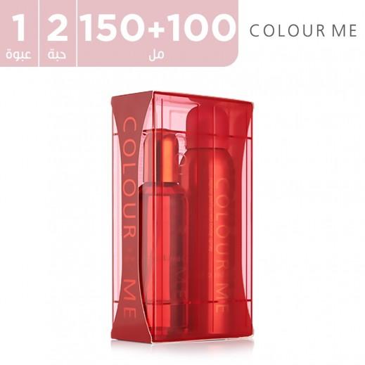 كولور مى – بخاخ الجسم للنساء الأحمر - 150 مل + 100 مل