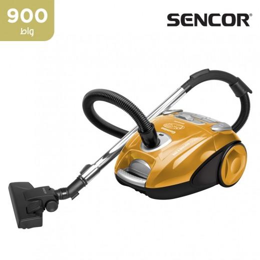 سينكور - مكنسة كهربائية 900 واط مع أكياس وبـ تشغيل بدون أكياس - ذهبي