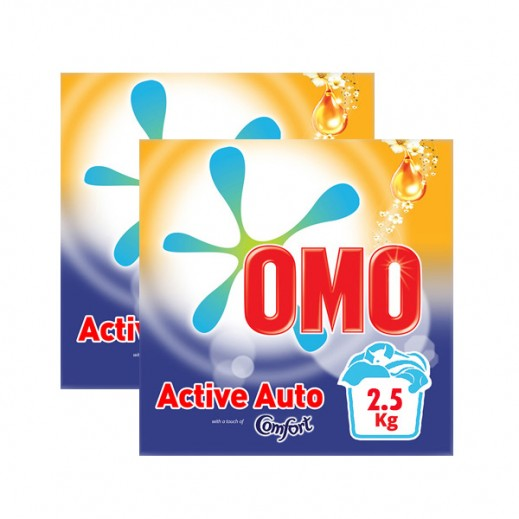 أومو - مسحوق الغسيل Active Auto للغسالات الأوتوماتيك 2.5 كجم (2 حبة)