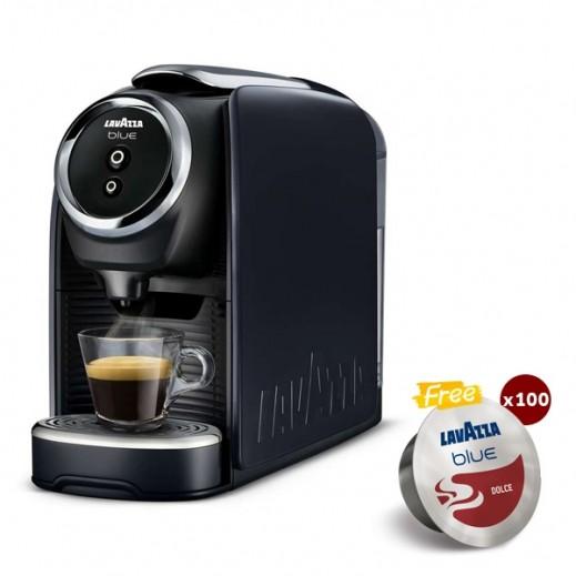 لافتزا - ماكينة تحضير القهوة كلاسي ميني + 100 كبسولة مجاناً