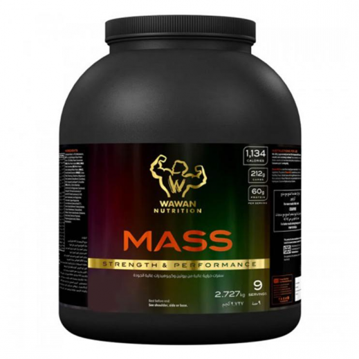 واوان بروتين ماس عالى الجودة  - نكهة فراولة وكريمة 2.727 كج - يتم التوصيل بواسطة Wawan Protein