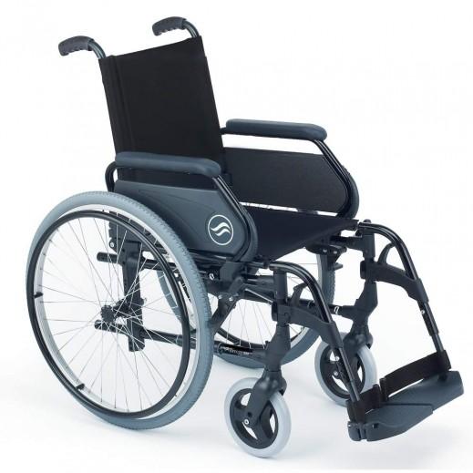 سن رايز - كرسي متحرك بريزي عريض من الستيل عرض 52 سم سعة 100 كجم - رمادي - يتم التوصيل بواسطة التوصيل بعد يومين عمل  بواسطة العيسى
