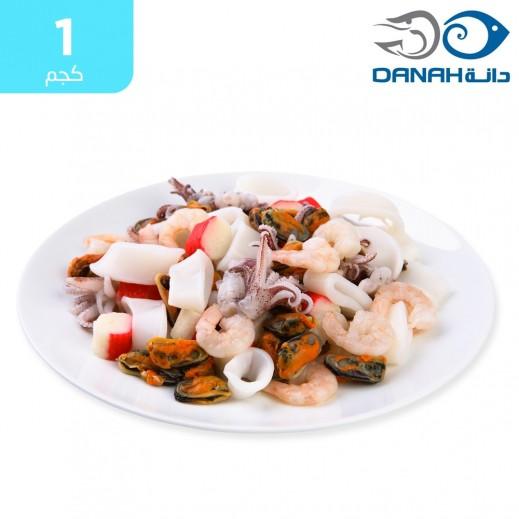 دانة – مأكولات بحرية مخلط مجمدة 1 كجم