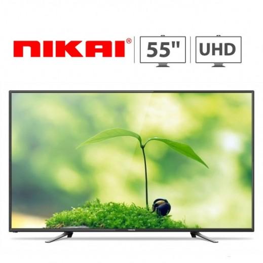 """نيكاي – تلفزيون ذكي  55"""" HD 4K - يتم التوصيل بواسطة United Techno"""