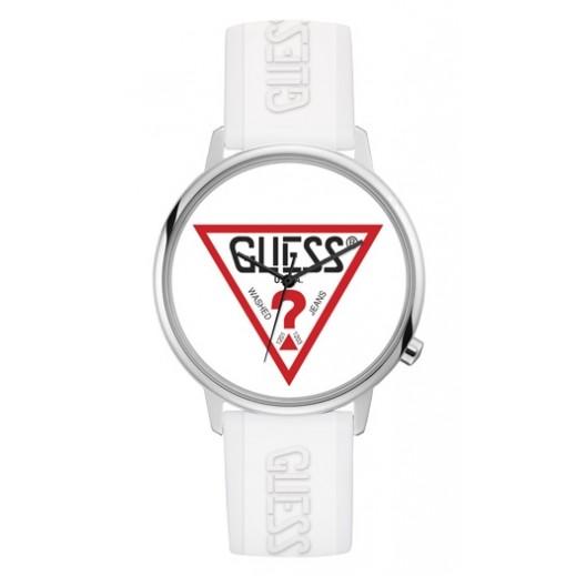 """جيس - """"هوليود"""" ساعة يد للجنسين بحزام سيليكون أبيض - يتم التوصيل بواسطة التوصيل بعد 4 أيام عمل بواسطة بيضون"""