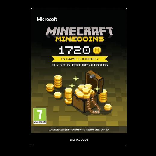 بطاقة فورية للعبة Minecraft بقيمة 9.99 دولار 1720 عملات معدنية (استلام عبر الإيميل)