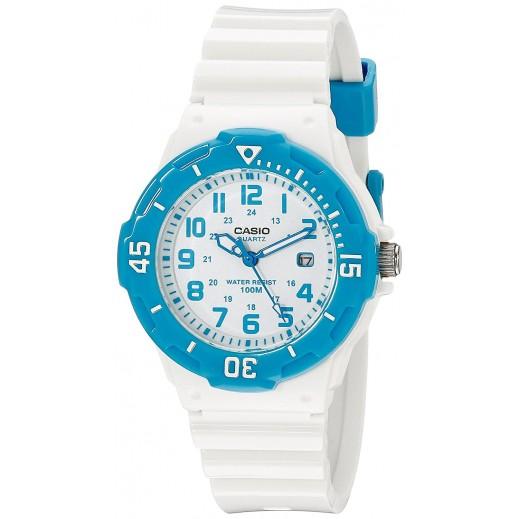 كاسيو - ساعة يد للسيدات عقارب بسوار راتنج أبيض   - يتم التوصيل بواسطة Veerup General Trading