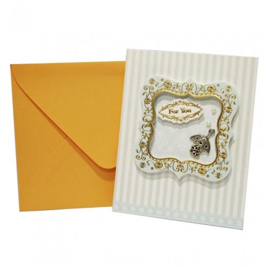 بطاقة تهنئة مصنوعة يدوياً مع عبارة For You