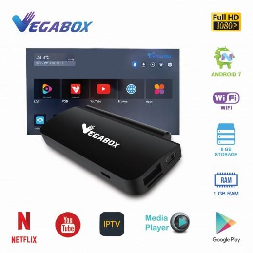ان اتش اى – جهاز Vegabox دونجل أندرويد 7 للتلفزيون سرعة 1.5جيجاهرتز - اسود