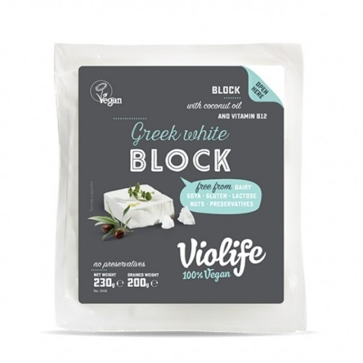 فيولايف - جبنة يونانية بيضاء نباتية خالية من الجلوتين 200 جم