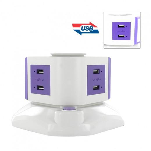 وصلة كهرباء 1.8 متر مع 8 منافذ USB
