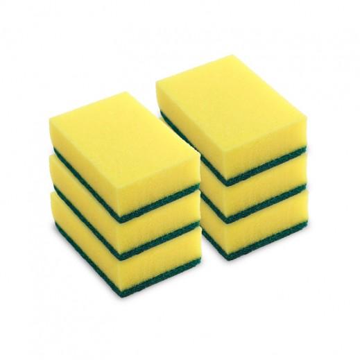 """ﭭيليدا – إسفنجة """"تيب توب"""" لتنظيف الأواني المنزلية 5 قطع + قطعة مجاناً"""