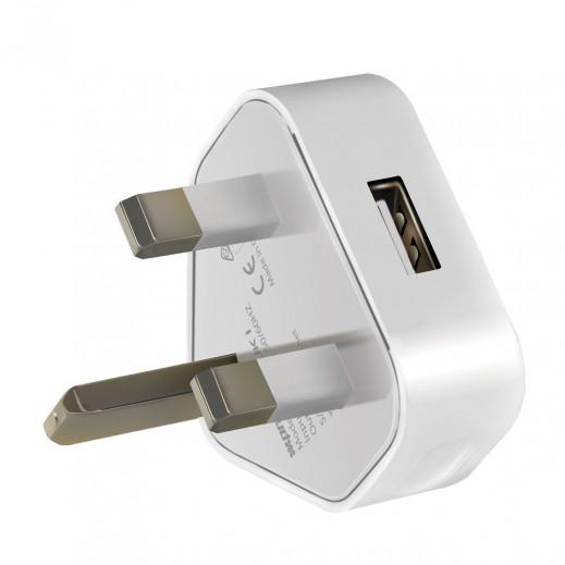 بروميت VIM-UK1 شاحن منزل ممتاز 1000 مللي امبير مع منفذ USB - ابيض