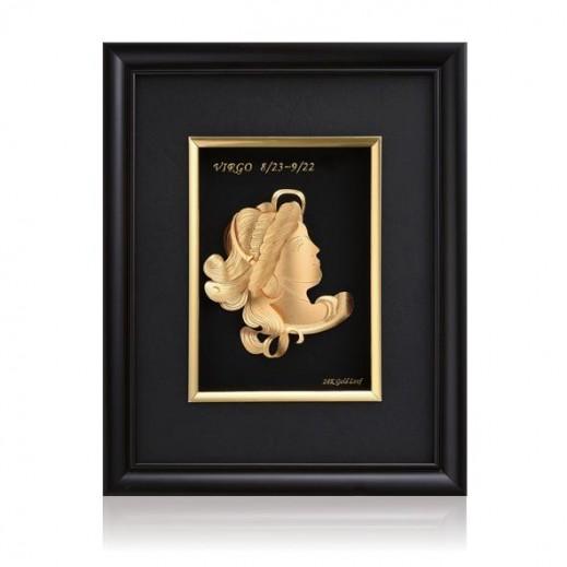 كيو بيست – رمز برج العذراء ذهبي عيار 24 ثلاثي الأبعاد