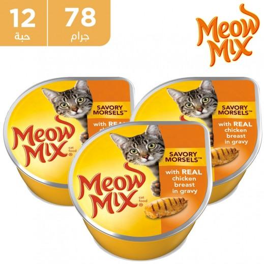 ميو ميكس صدور الدجاج اكل قطط 12 × 78 جم