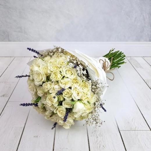 بيبي روز أبيض 25 حبة - يتم التوصيل بواسطة Flowerrique