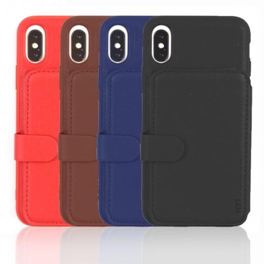 اتش دي دي – غطاء حماية مع محفظة لهاتف ايفون XS Max