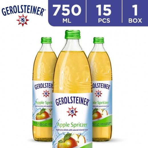 جيرولستينر - مياه معدنية طبيعية فوارة بالتفاح 15 × 750 مل