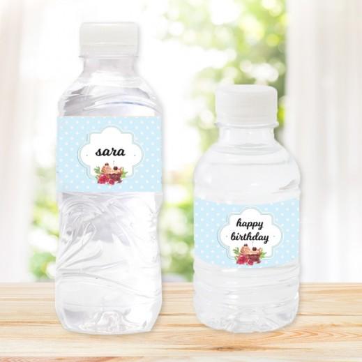مجموعة من 20 زجاجة مياه تصميم عيد ميلاد III - يتم التوصيل بواسطة Berwaz.com