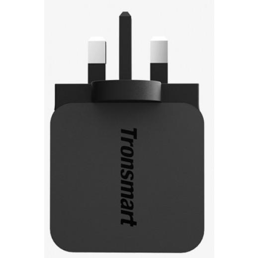 شاحن كهربائي TRONSMART مع خاصية الشحن السريع QUICK CHARGE  قوة 18 واط 3.0 USB