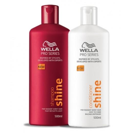 ويلا – شامبو للمعان الشعر 500 مل + بلسم 500 مل مجاناً
