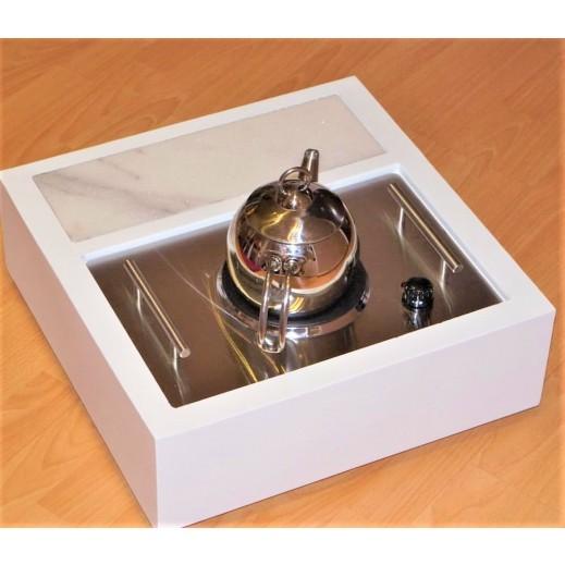 دوة كهرباء حجم صغير - أبيض  - يتم التوصيل بواسطة Siwaj