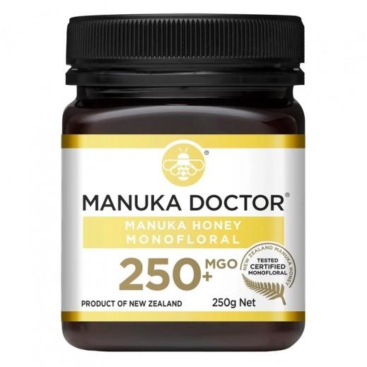 مانوكا دكتور – عسل مانوكا بتركيز أكسيد ماغنسيوم +250 متعدد الزهور 250 جم (خالي من الغلوتين)