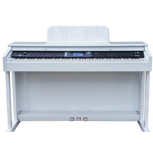 سوزوكي – بيانو ديجتال 88 مفتاح 147 صوت مع شاشة LCD – أبيض - يتم التوصيل بواسطة Marshall Al-Alamiah Company