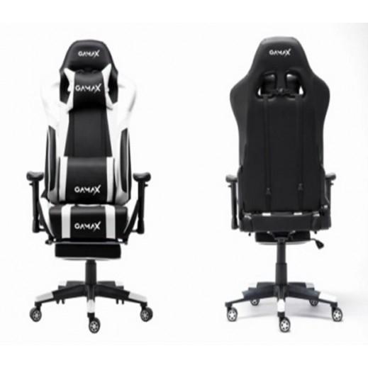 جاماكس – كرسي ألعاب الفيديو Foot Rest 6009 - أبيض