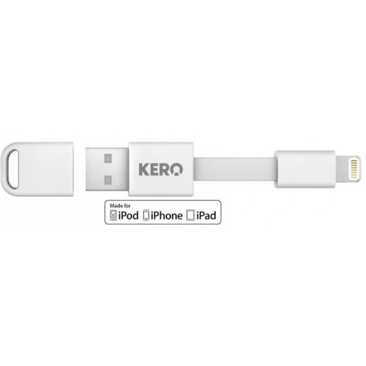 نوماد – كيبل USB  للموصلات السريعة لأجهزة أبل 3 إنش - أبيض