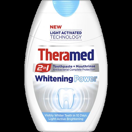 ثيراميد – معجون أسنان 2 في 1 بقوة تبييض الأسنان + غسول فم 75 مل