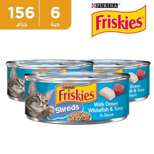 فرسكس – طعام القطط بسمك المحيط الأبيض والتونة مع المرق 6 × 156 جم