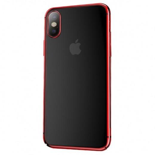 دبليو كي ديزاين-  غطاء زجاجي لآيفون X / XS  – احمر