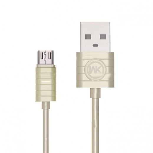 دبليو كي ديزاين - كيبل Micro USB بطول 1 متر - ذهبي